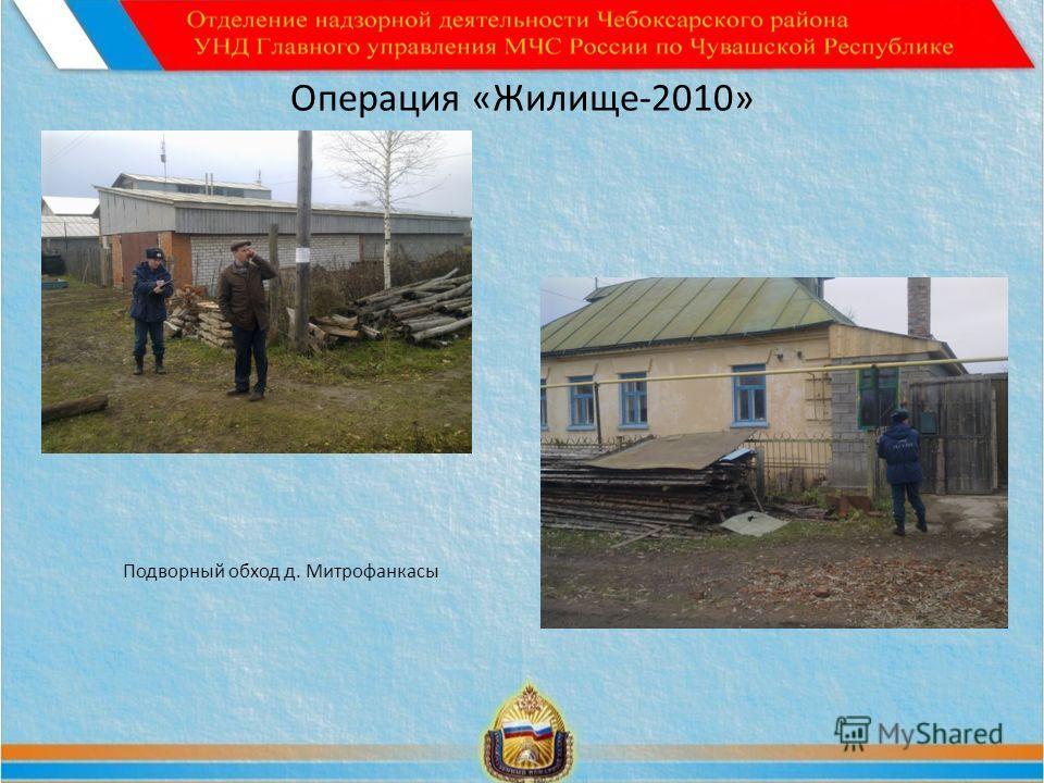 Операция «Жилище-2010» Подворный обход д. Митрофанкасы