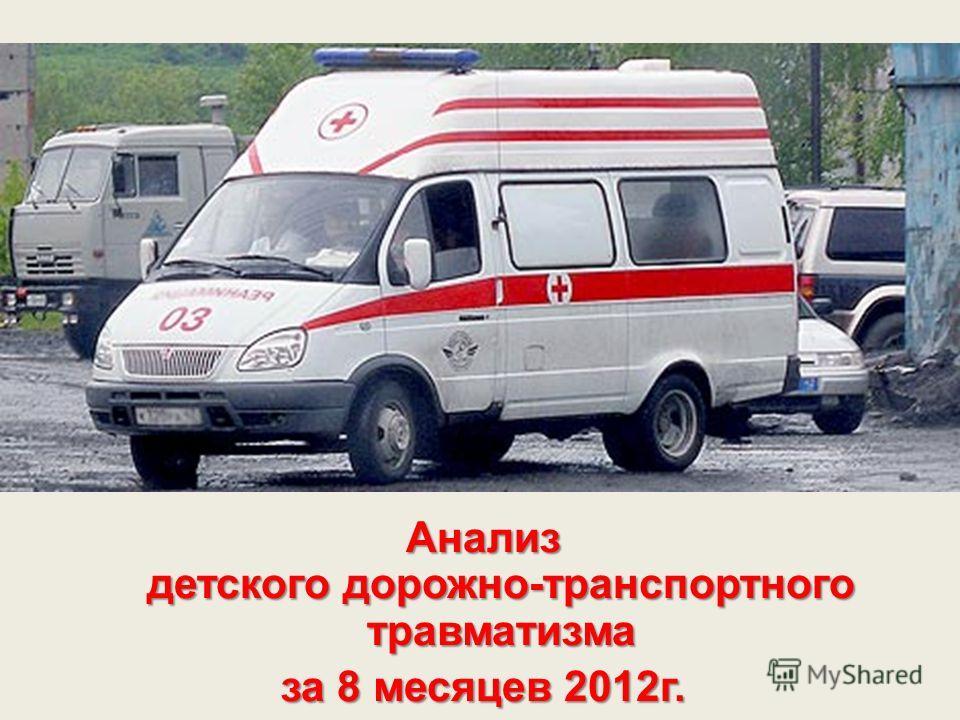 Анализ детского дорожно-транспортного травматизма за 8 месяцев 2012г.