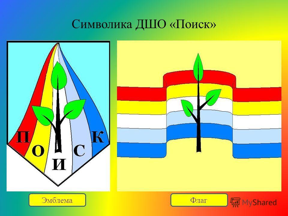 Символика ДШО «Поиск» ЭмблемаФлаг