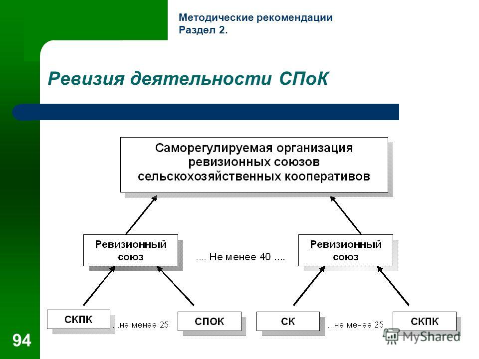 94 Ревизия деятельности СПоК Методические рекомендации Раздел 2.