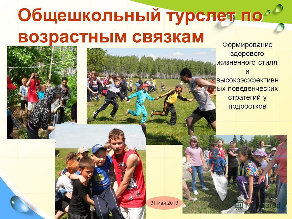 Общешкольный турслет по возрастным связкам Формирование здорового жизненного стиля и высокоэффективн ых поведенческих стратегий у подростков 31 мая 2013