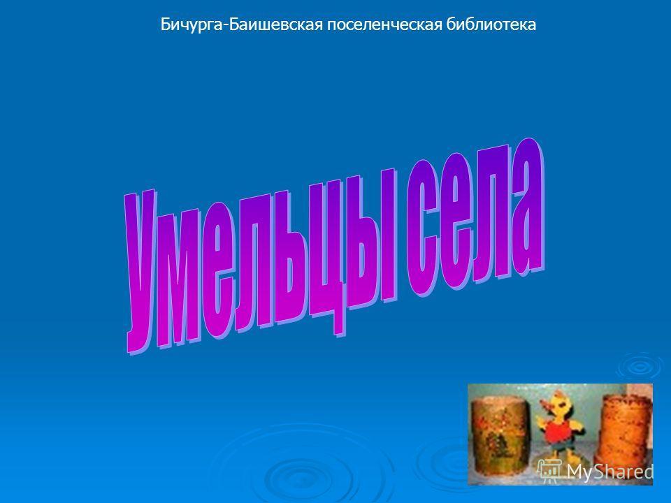 Бичурга-Баишевская поселенческая библиотека