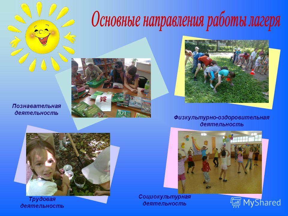 Познавательная деятельность Физкультурно-оздоровительная деятельность Трудовая деятельность Социокультурная деятельность