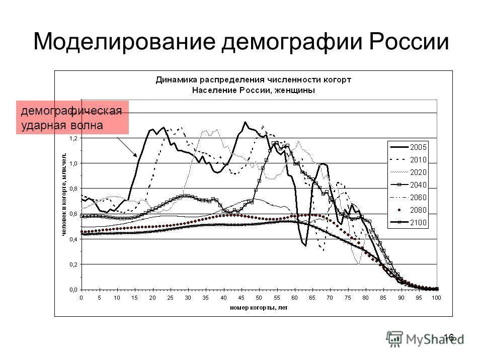 16 Моделирование демографии России демографическая ударная волна