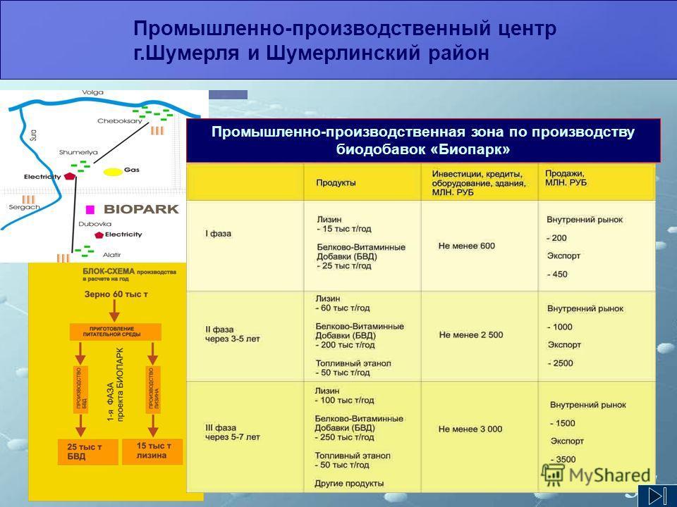 37 Промышленно-производственный центр г.Шумерля и Шумерлинский район Промышленно-производственная зона по производству биодобавок «Биопарк»