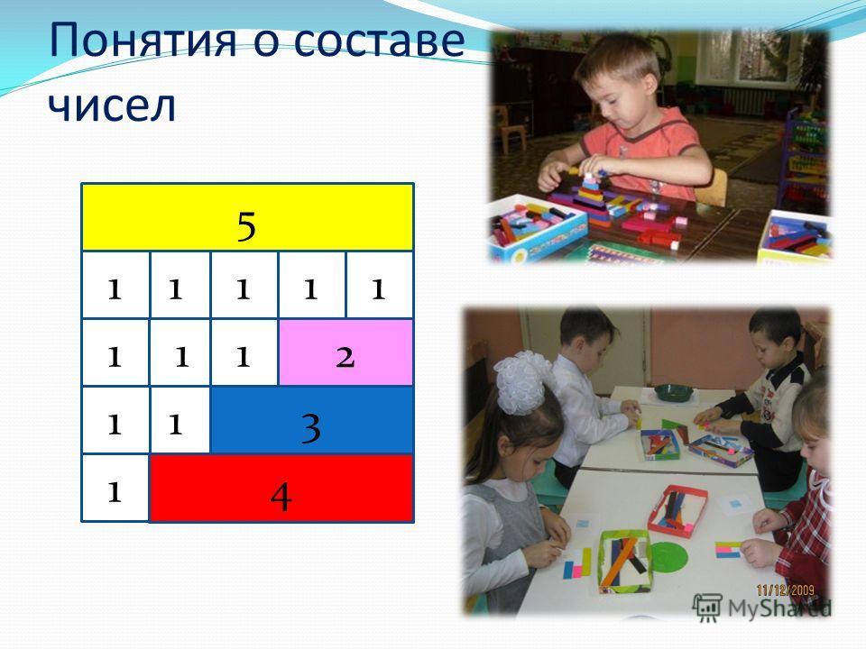Понятия о составе чисел 5 11111 111 1 11 2 3 4