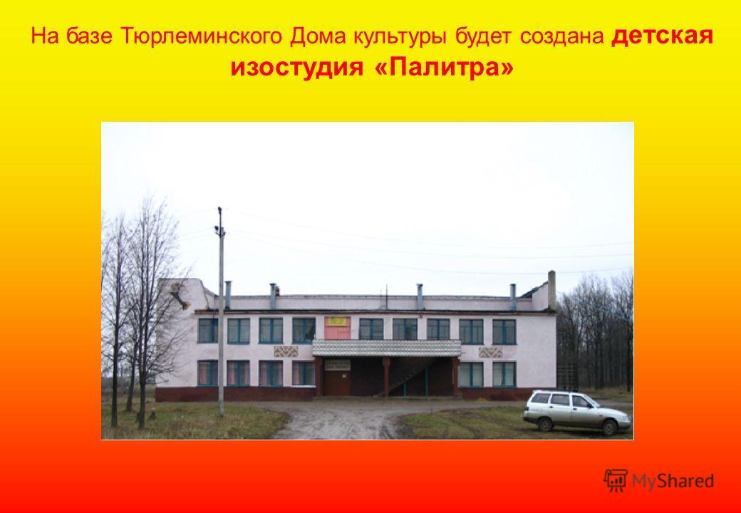 На базе Тюрлеминского Дома культуры будет создана детская изостудия «Палитра»