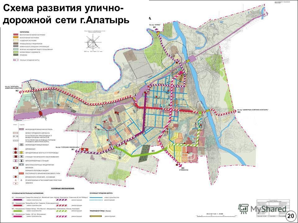 Схема развития улично- дорожной сети г.Алатырь 20