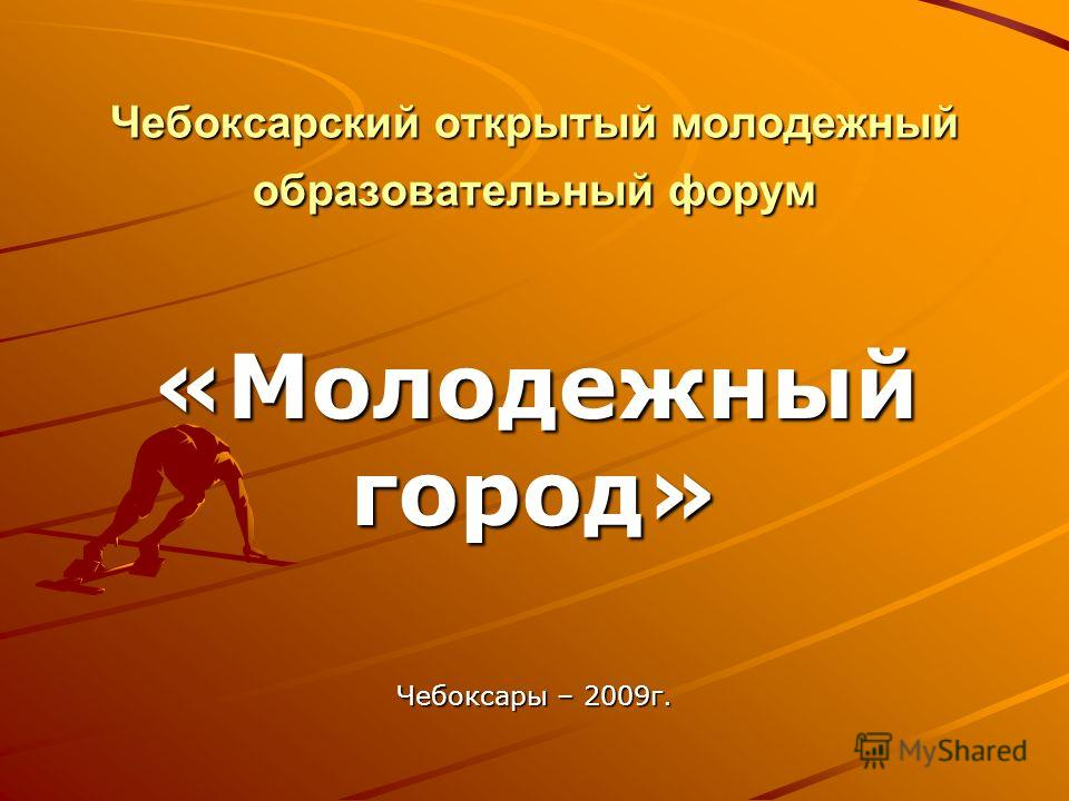 Чебоксарский открытый молодежный образовательный форум «Молодежный город» Чебоксары – 2009г.