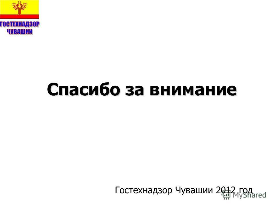 Спасибо за внимание Гостехнадзор Чувашии 2012 год