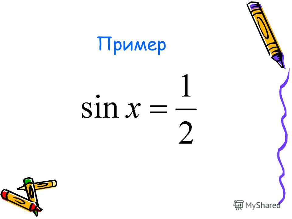 III.x Є R; x - ? x 1 = arcsin a +2πn, n Є Z; x 2 = π - arcsin a +2πn = - arcsin a +π(2n+1),nЄZ; или x= (-1) k arcsin a +πk, k Є Z; Решение простейшего тригон- кого уравнения sin x = a. |a|1. π 2π2π 0 -π-π -2π y=a y=sin x