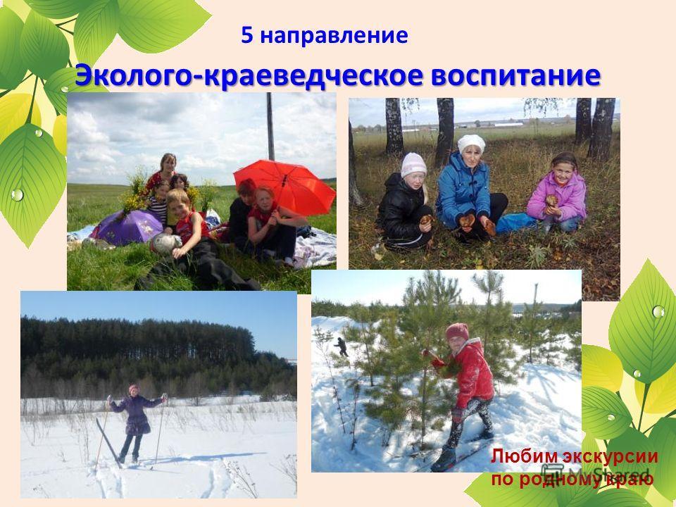 Эколого-краеведческое воспитание 5 направление Эколого-краеведческое воспитание Любим экскурсии по родному краю