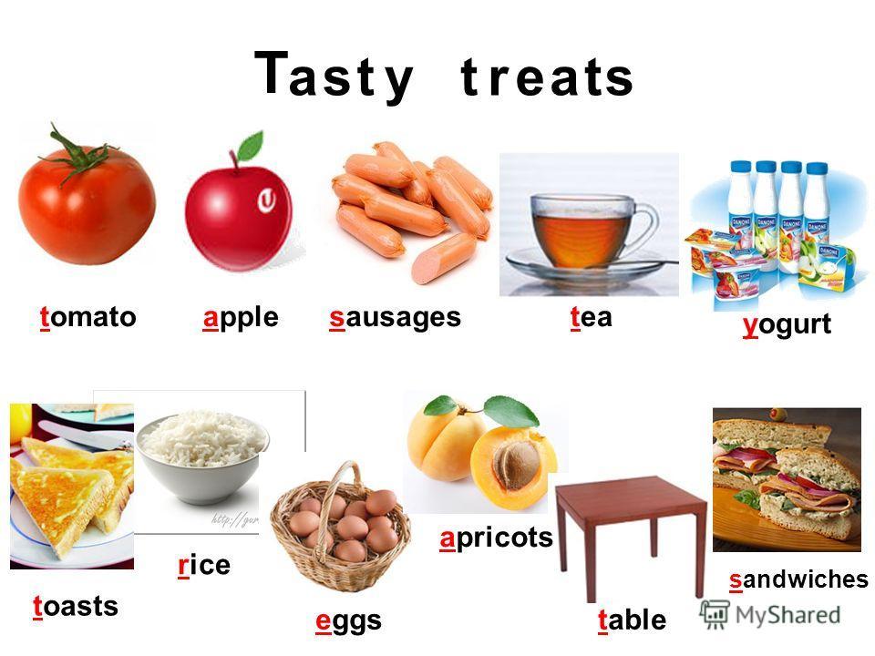appletomatosausagestea yogurt toasts rice eggs apricots table sandwiches T asstytreat