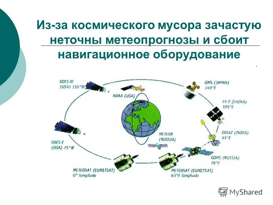 Из-за космического мусора зачастую неточны метеопрогнозы и сбоит навигационное оборудование