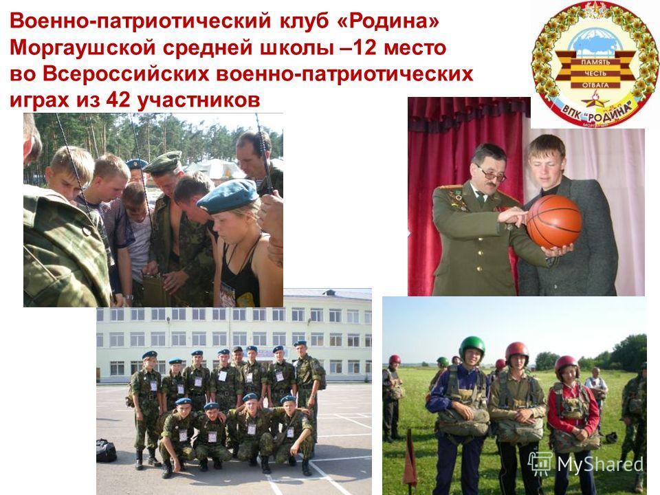 Военно-патриотический клуб «Родина» Моргаушской средней школы –12 место во Всероссийских военно-патриотических играх из 42 участников