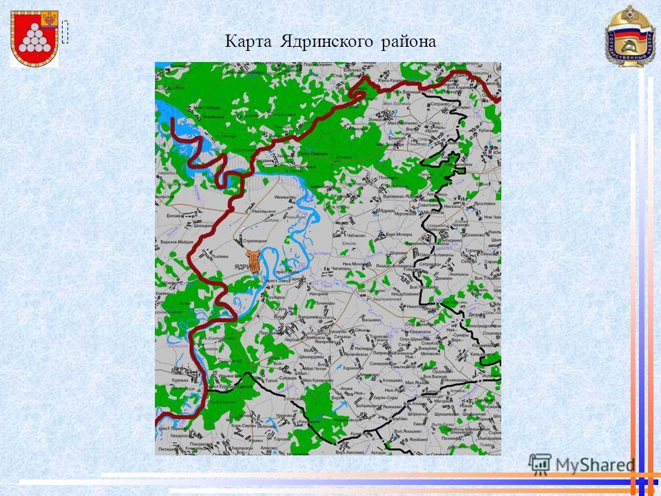 Карта Ядринского района