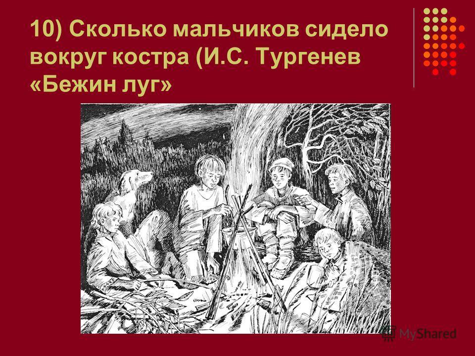10) Сколько мальчиков сидело вокруг костра (И.С. Тургенев «Бежин луг»