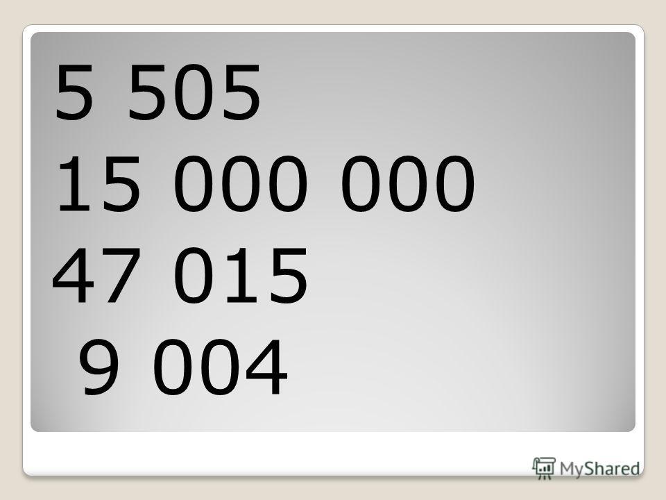 5 505 15 000 000 47 015 9 004