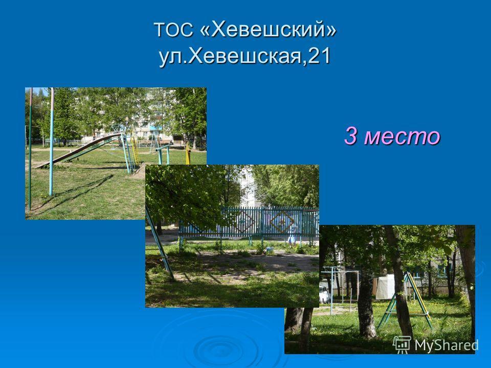 ТОС «Хевешский» ул.Хевешская,21 3 место 3 место