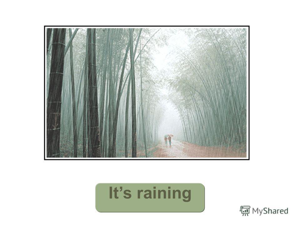 Its Its raining