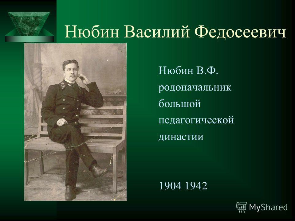 Нюбин Василий Федосеевич Нюбин В.Ф. родоначальник большой педагогической династии 1904 1942