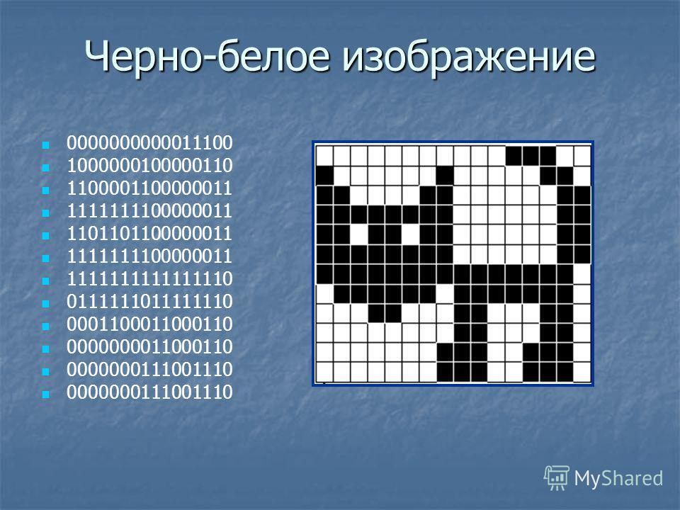 Черно-белое изображение 0000000000011100 1000000100000110 1100001100000011 1111111100000011 1101101100000011 1111111100000011 1111111111111110 0111111011111110 0001100011000110 0000000011000110 0000000111001110