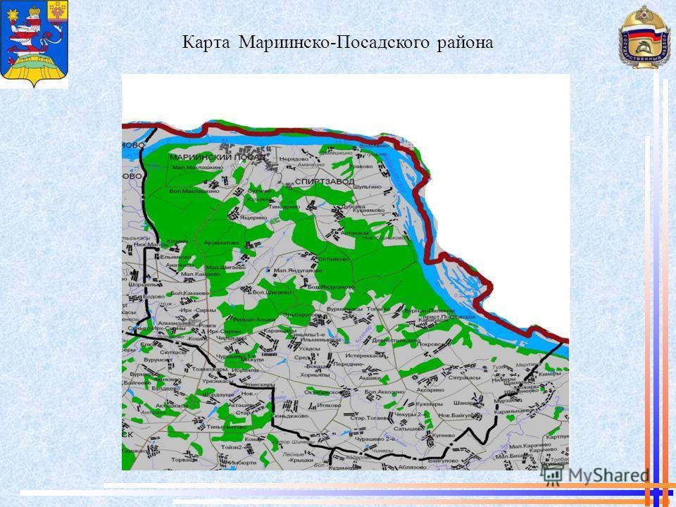 Карта Мариинско-Посадского района