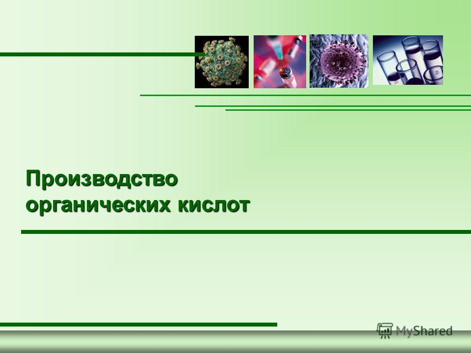 1 Производство органических кислот
