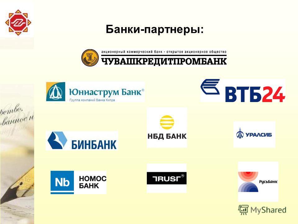 Банки-партнеры: