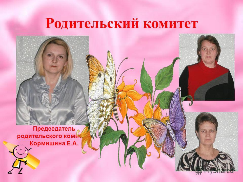 Родительский комитет Председатель родительского комитета Кормишина Е.А.