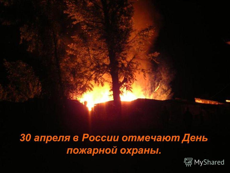 30 апреля в России отмечают День пожарной охраны.