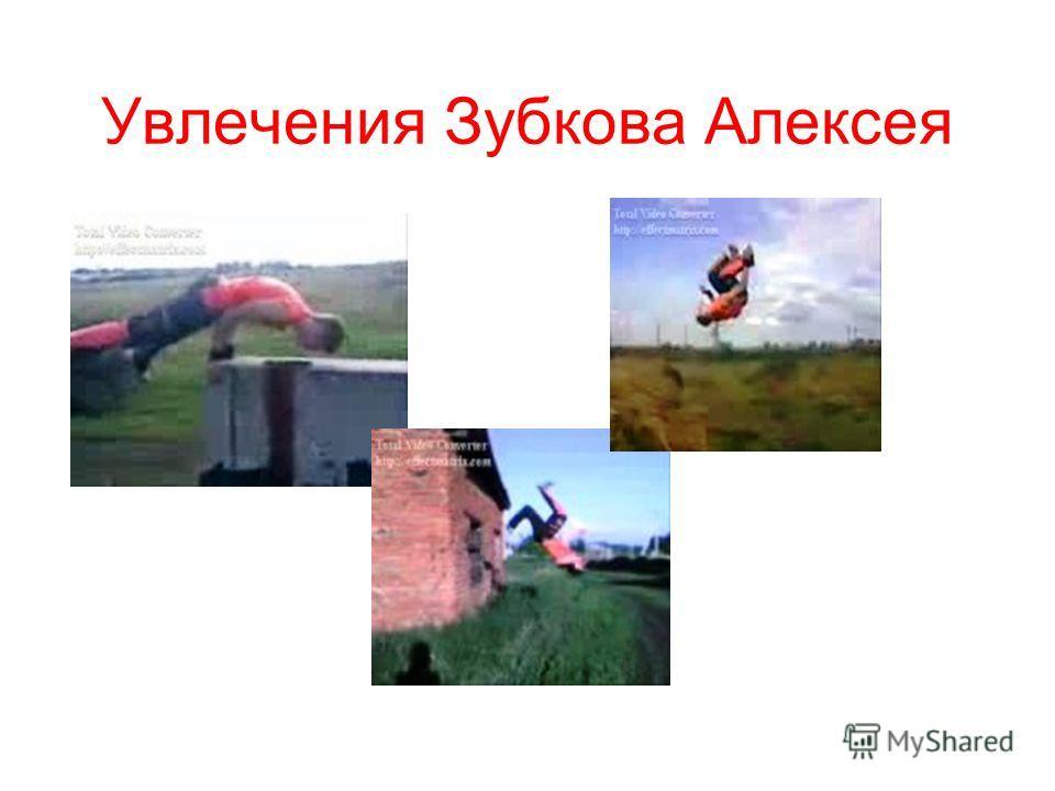 Увлечения Зубкова Алексея