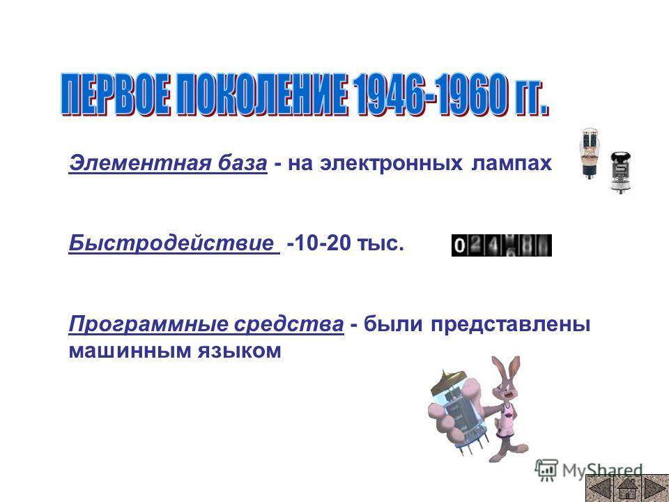 ENIAK В 40-х годах произошел коренной переворот в вычислительной технике. В 40-х годах 20 века в университете США в городе Пенсильвания была построена полностью электронно –цифровая машина Эта машина весила 30 тонн Занимала площадь 200 м 2 В ней было