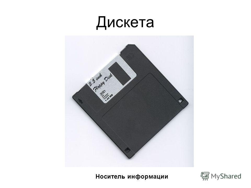 Дискета Носитель информации