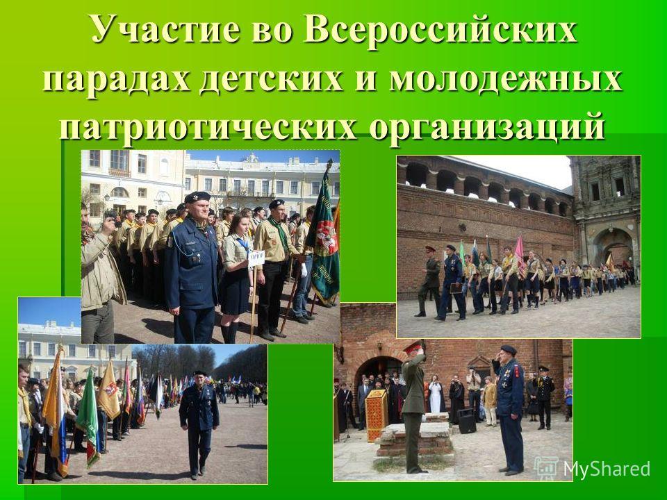 Участие во Всероссийских парадах детских и молодежных патриотических организаций