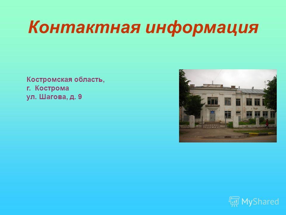Контактная информация костромская