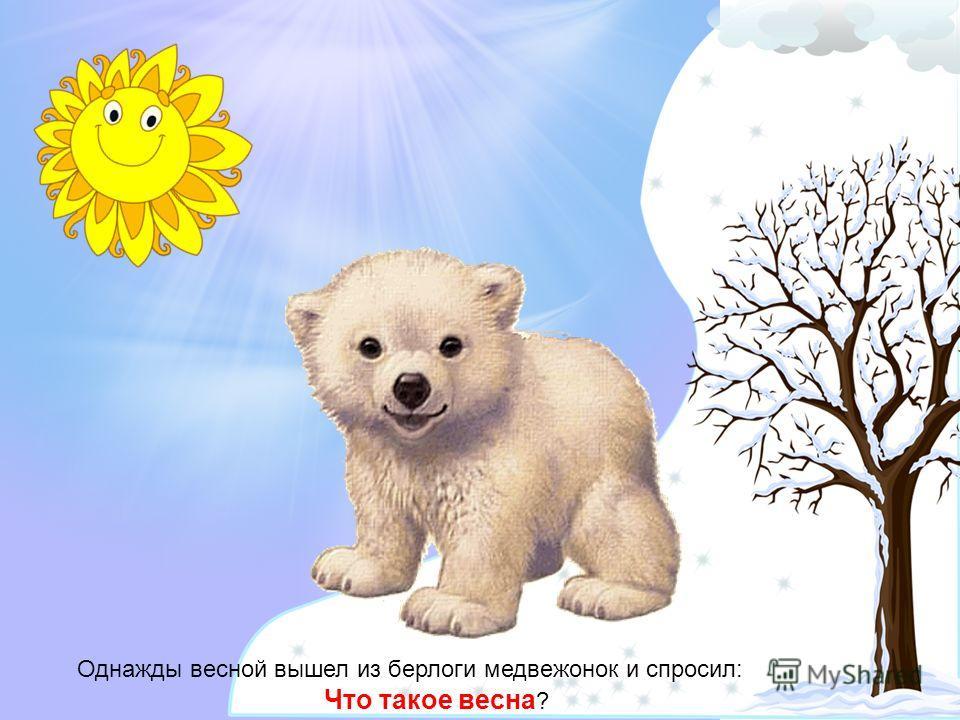 Однажды весной вышел из берлоги медвежонок и спросил: Что такое весна ?