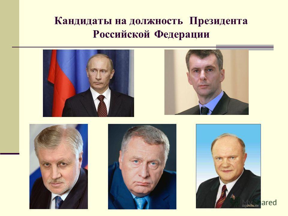 Кандидаты на должность Президента Российской Федерации