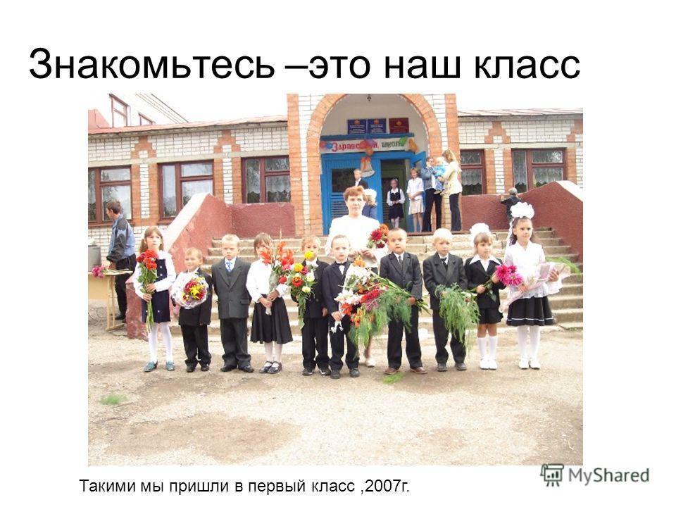 Знакомьтесь –это наш класс Такими мы пришли в первый класс,2007г.