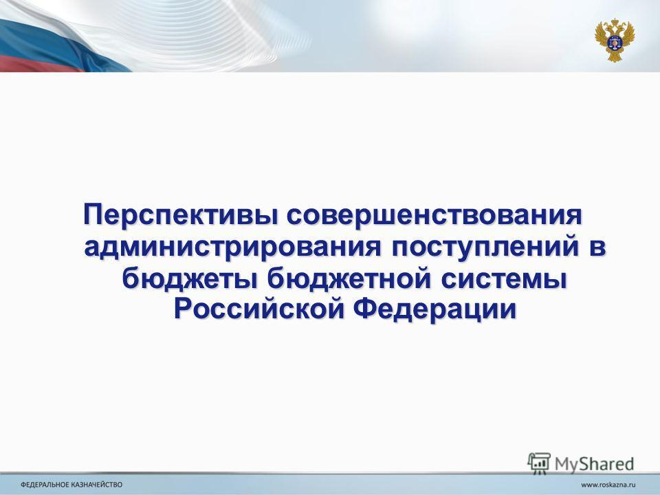 Перспективы совершенствования администрирования поступлений в бюджеты бюджетной системы Российской Федерации