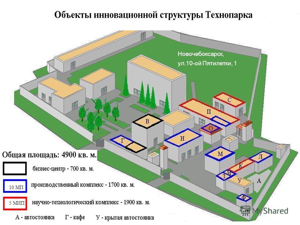 Объекты Технопарка Новочебоксарск, ул.10-ой Пятилетки, 1 10 МП 5 МИП