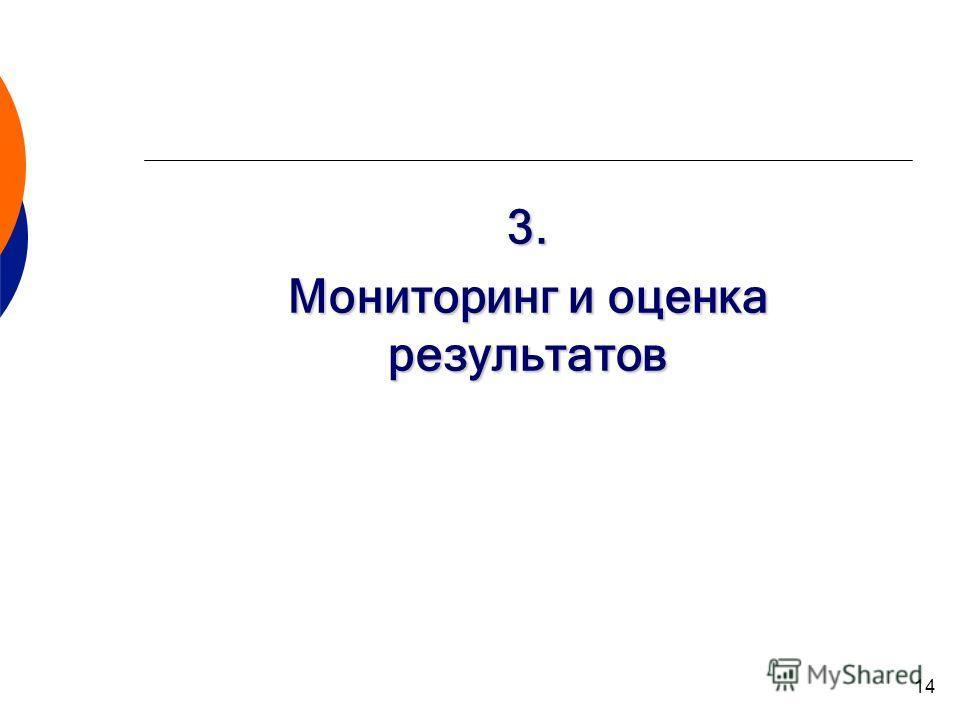 14 3. Мониторинг и оценка результатов