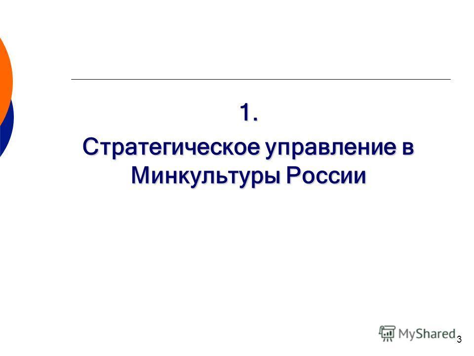3 1. Стратегическое управление в Минкультуры России
