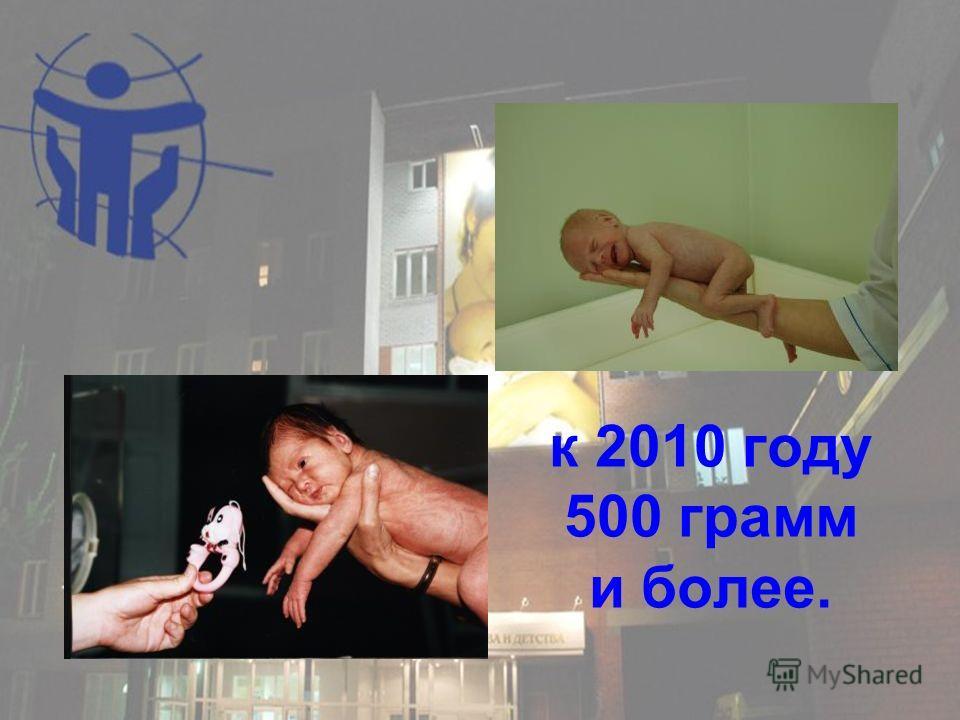 к 2010 году 500 грамм и более.