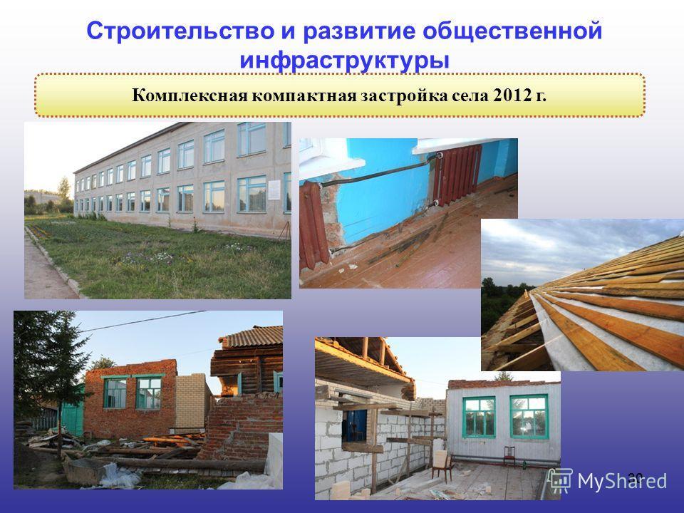 30 Строительство и развитие общественной инфраструктуры Комплексная компактная застройка села 2012 г.