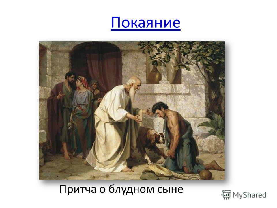Покаяние Притча о блудном сыне