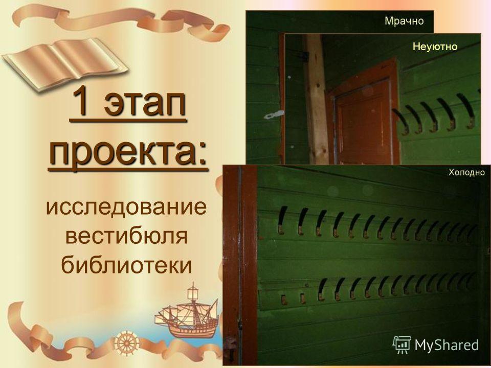 1 этап проекта: исследование вестибюля библиотеки Неуютно