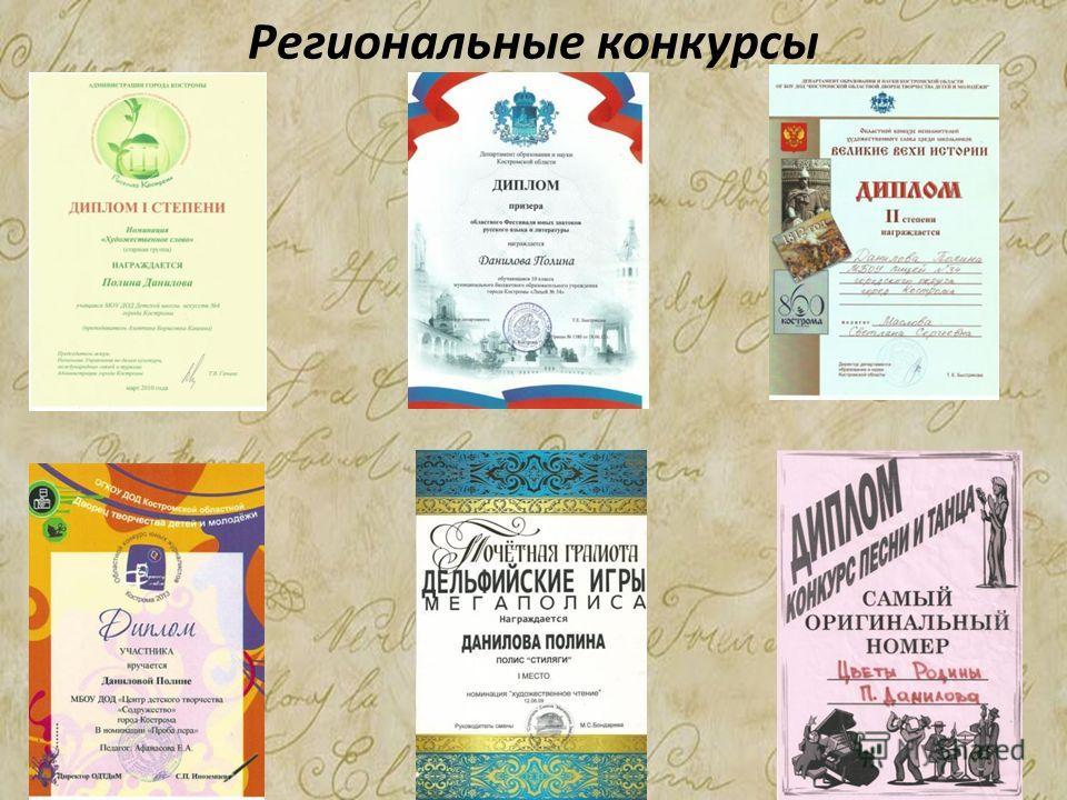 Региональные конкурсы