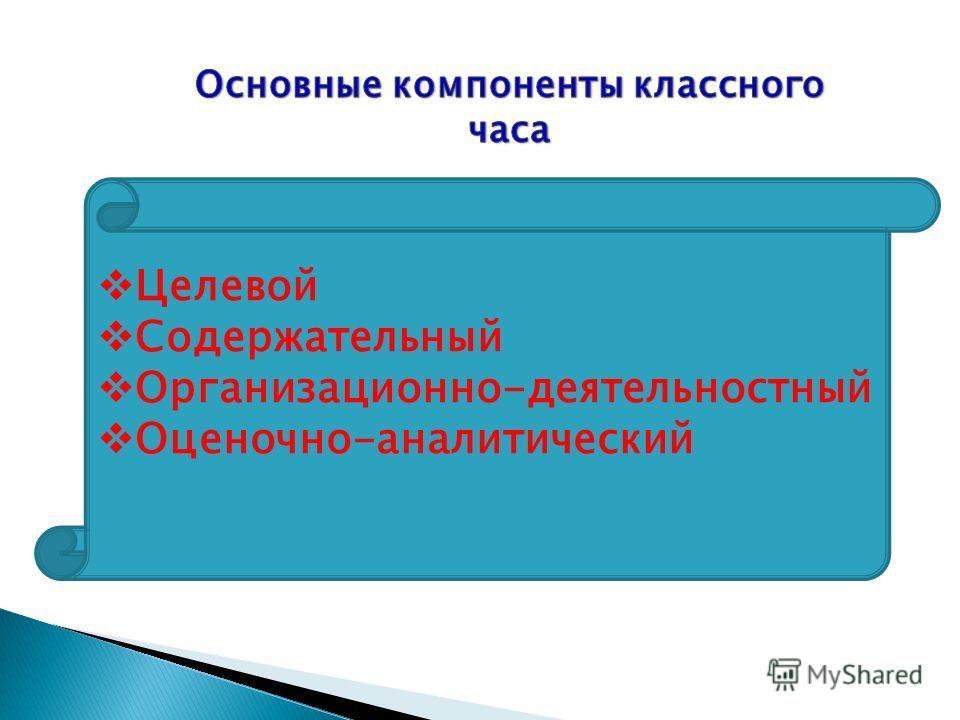Целевой Содержательный Организационно-деятельностный Оценочно-аналитический