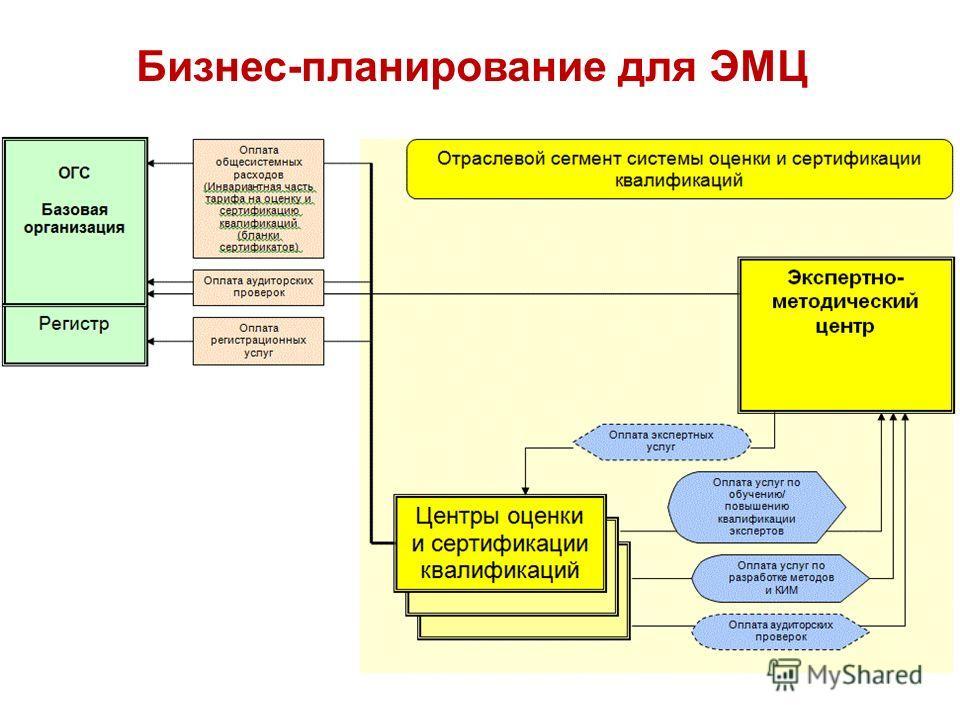 Бизнес-планирование для ЭМЦ